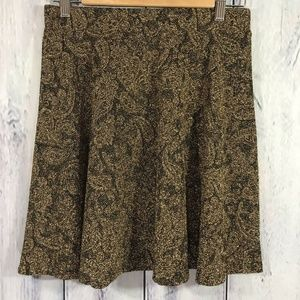 Everly Metallic Bronze Skirt Stretchy